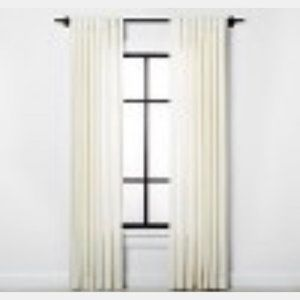 "2 Hearth & Hand 84"" Textured Curtain Panels NEW"